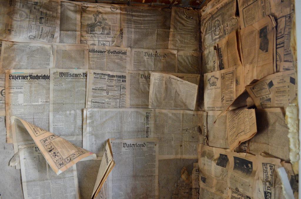 Früher hat man mit Zeitungen isoliert.